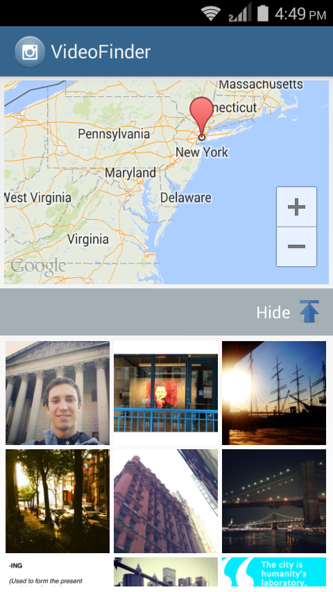 Location Based InstaGram Photos