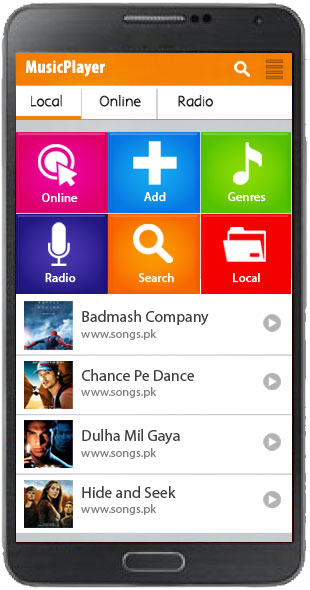 Audio Player Template - Mobile App Development, Android App