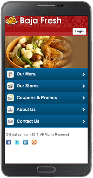 Restaurant Mobile Template