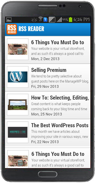 RSS Reader Template