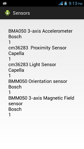 Android Sensor Tutorial