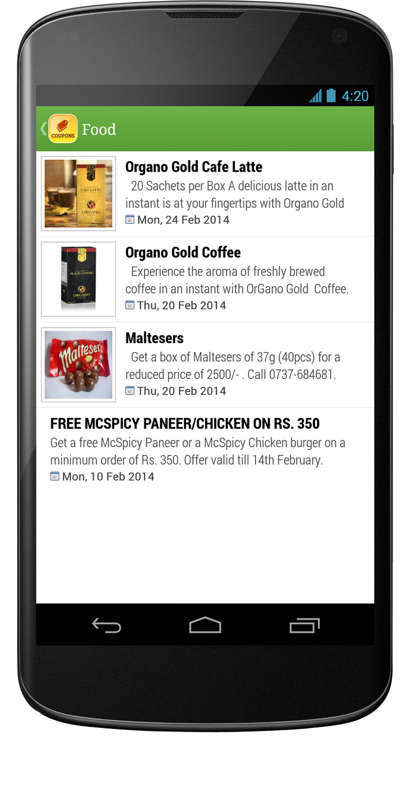 Coupons Mobile App