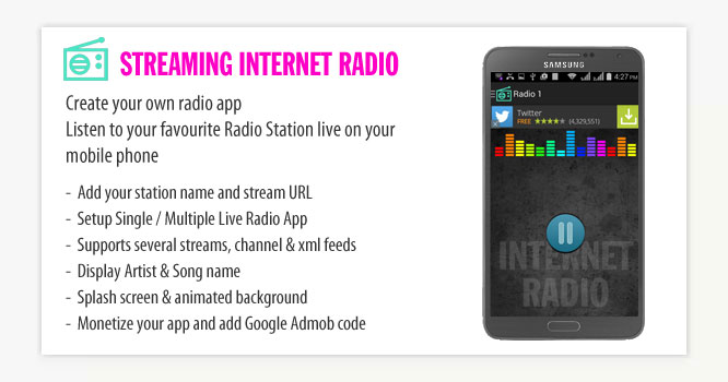Streaming Internet Radio Android App - Mobile App Development