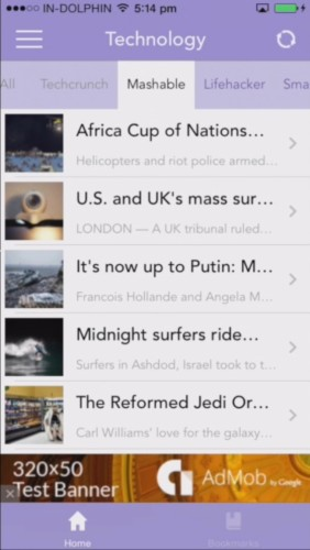 Pre-Installed RSS Reader for iOS