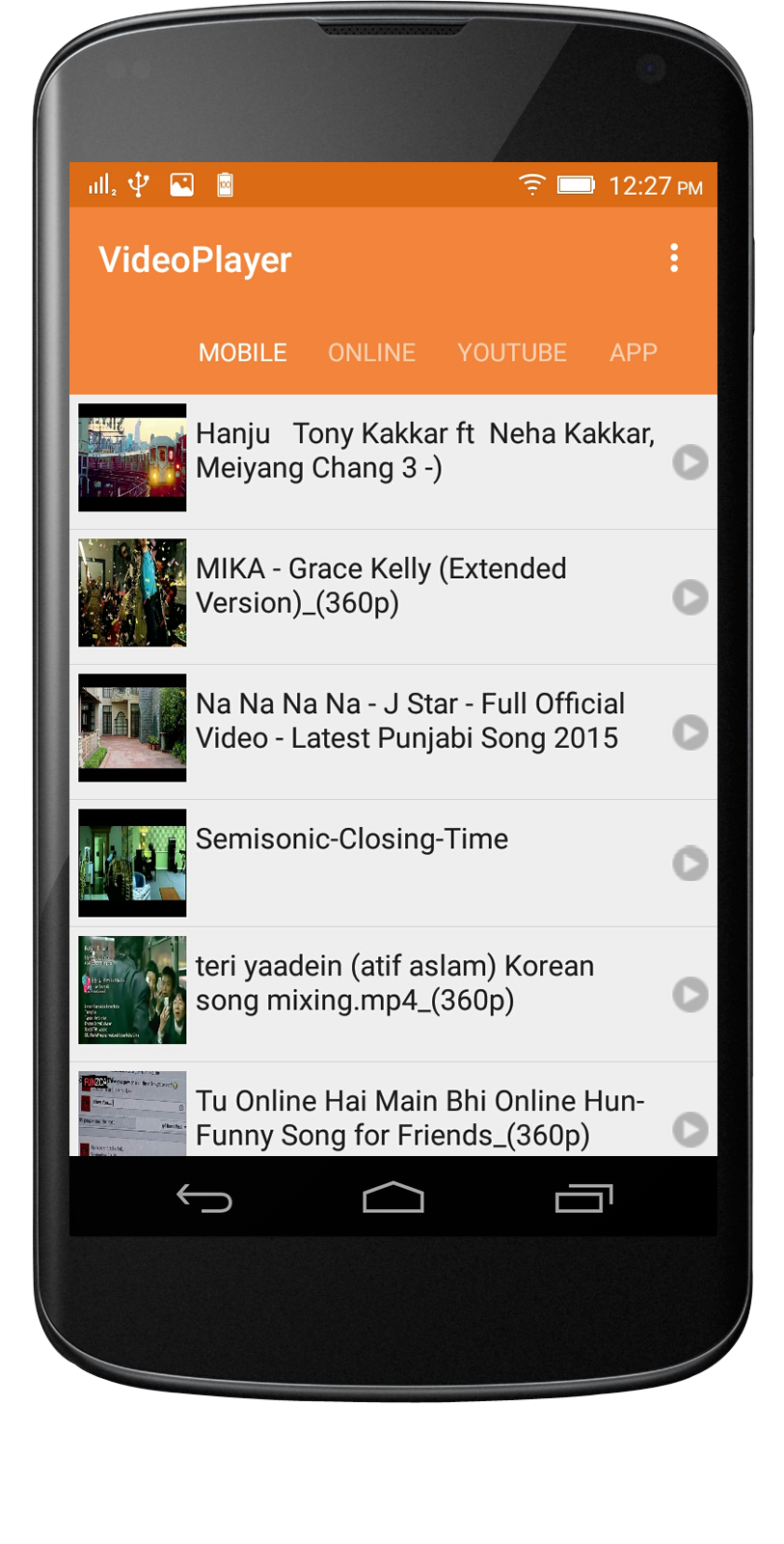 Local video player Android App - Mobile App Development