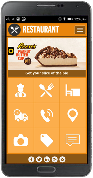 Restaurant Mobile Templates
