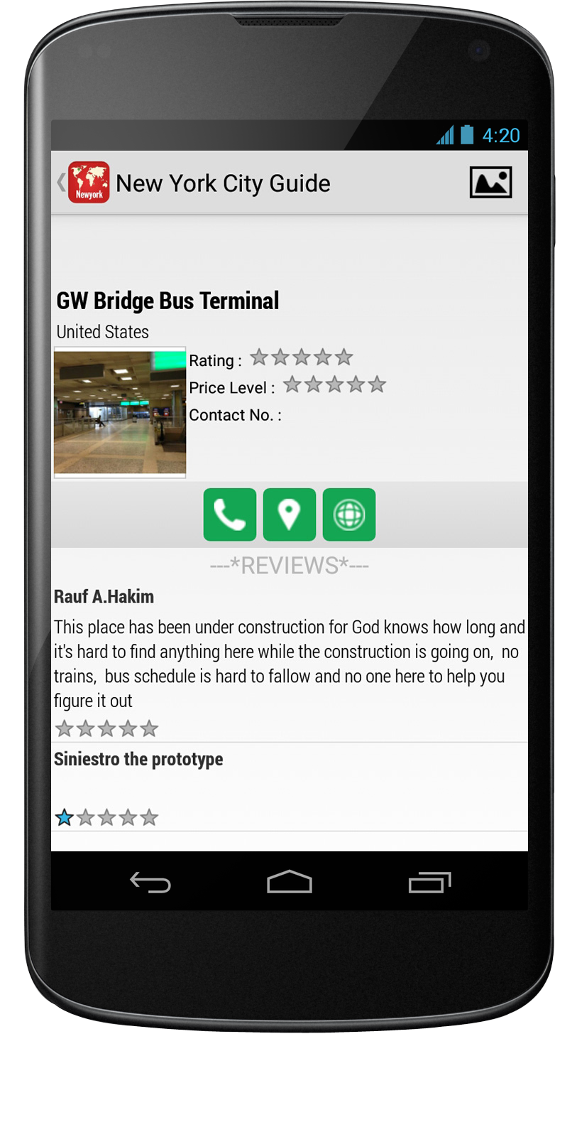 City Guide Android App