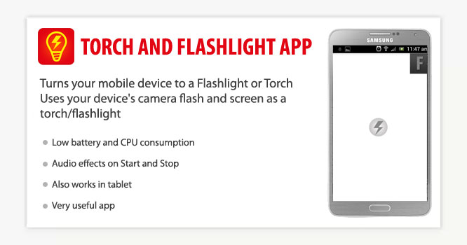 Torch and Flashlight Android App