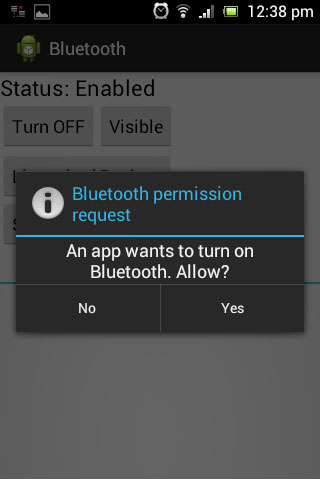 Android App for detecting Bluetooth Devices