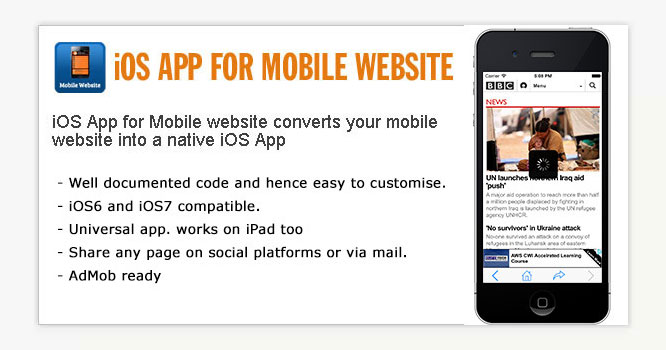 iPhone App for Mobile Website