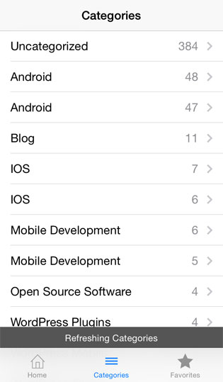 Pre Installed RSS reader for iOS
