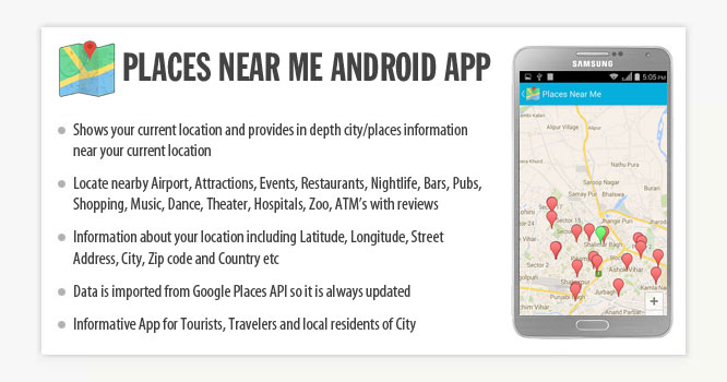 Places Near Me Android App