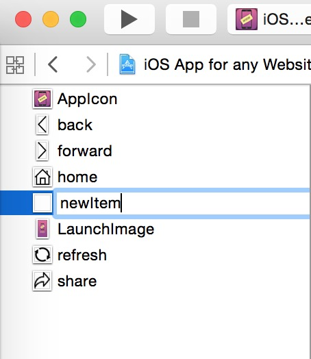 How to customise the button toolbar  for iOS App for mobile website