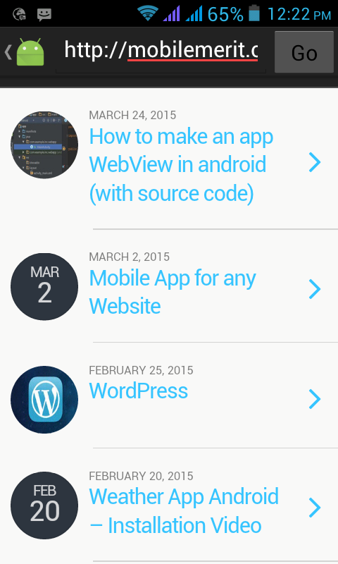 How to make an app WebView in android