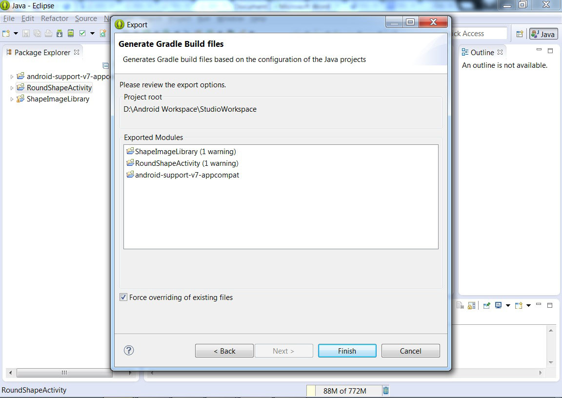 Import Eclipse Project into Android Studio