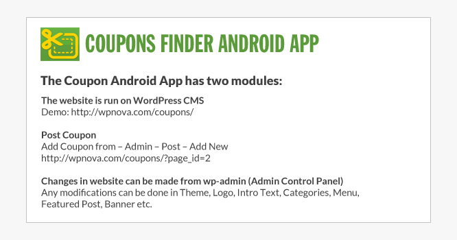 Coupons Finder Android App