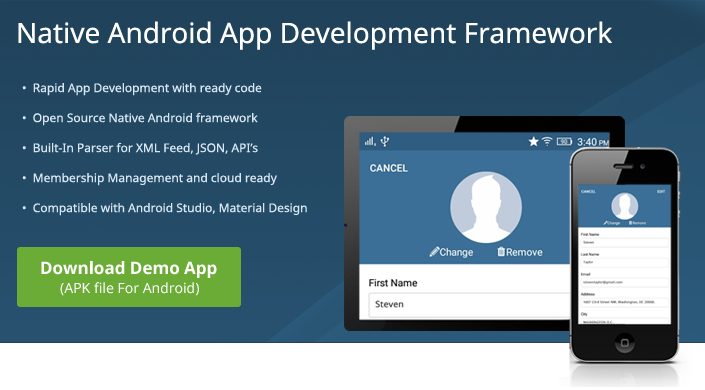 Native Android App Development Framework