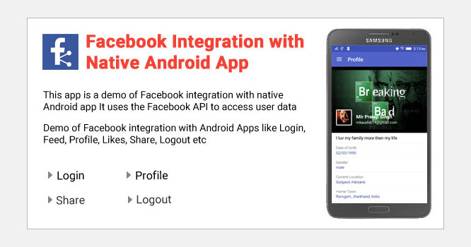 Facebook Integration with Native Android App