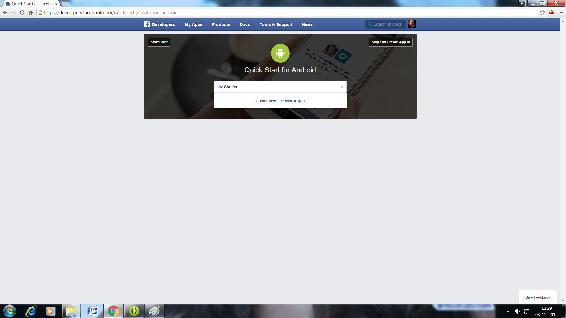 How to Create Facebook App ID