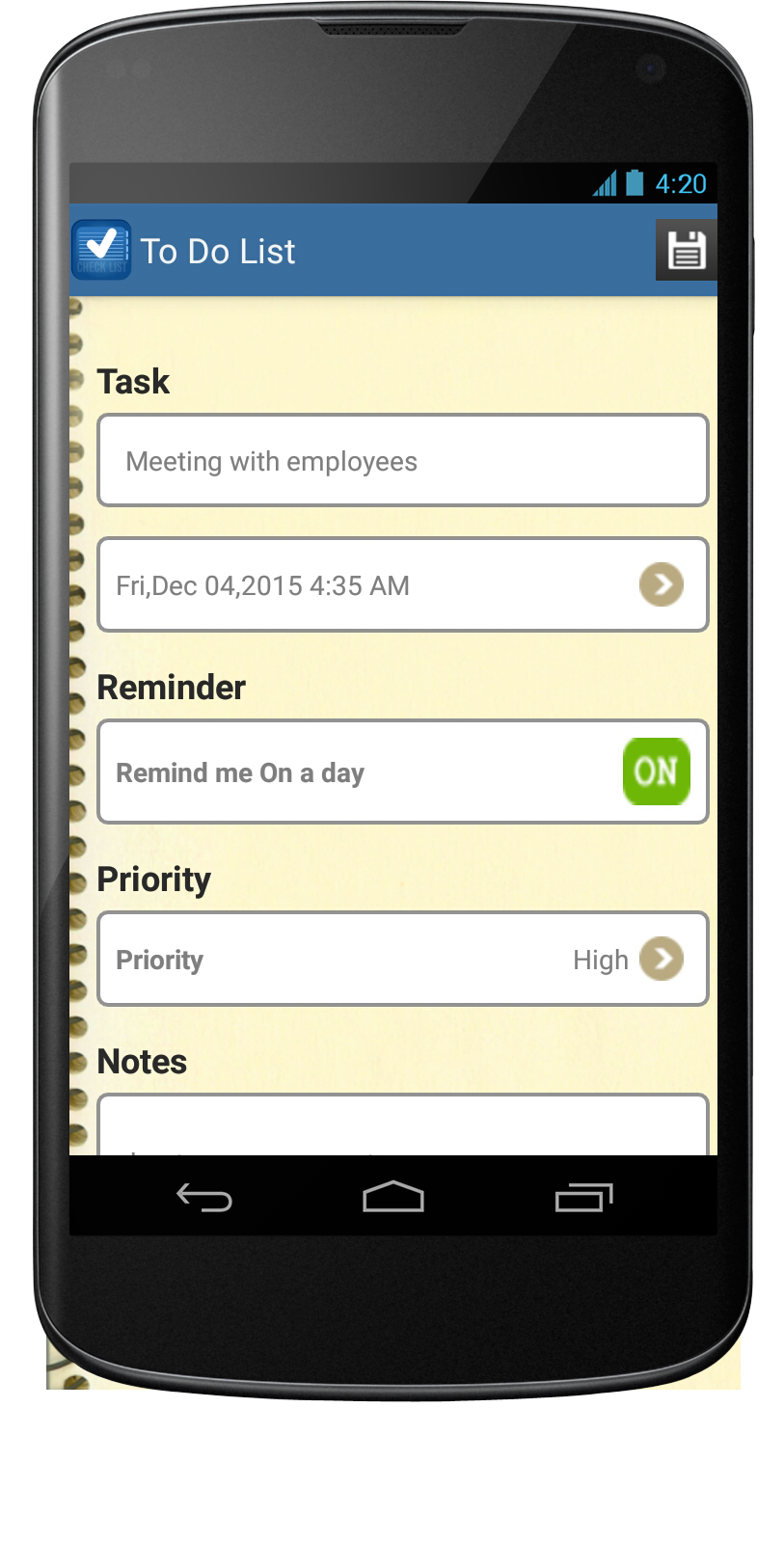 To Do List Android App