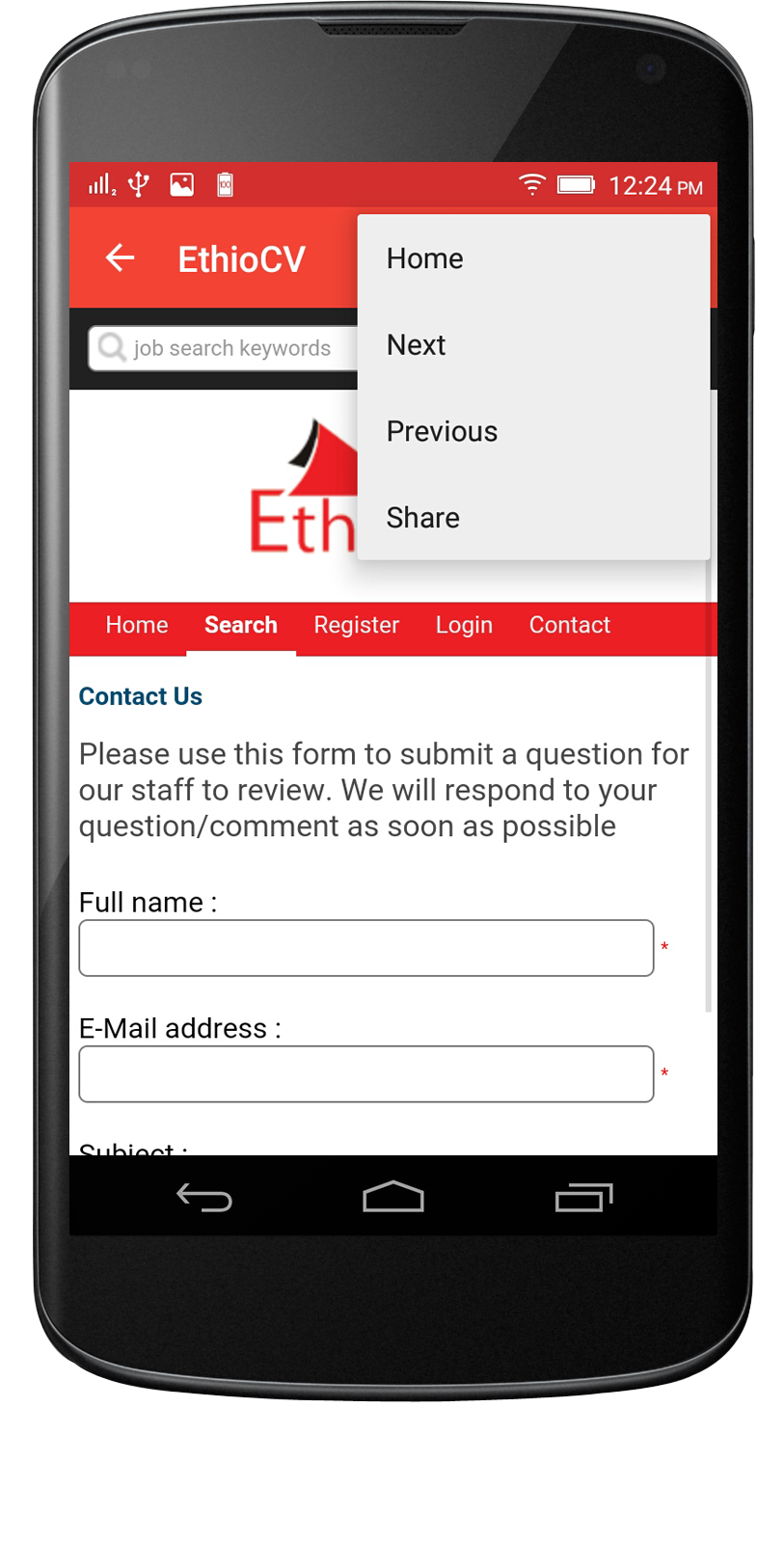 Webview Android App